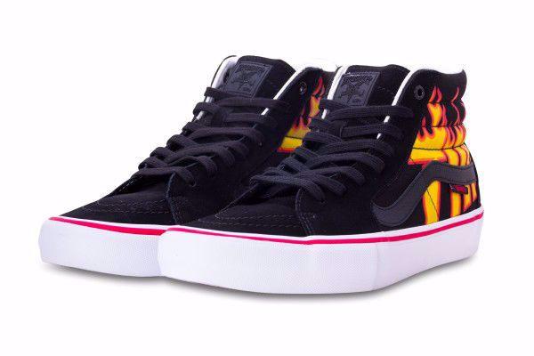 Vans x Thrasher Sk8-Hi Pro - Vans - Blk/Red/Flame