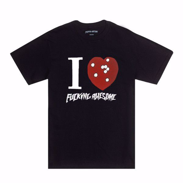 I Heart FA T-Shirt - Fucking Awesome - Black