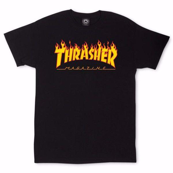 Flame T Shirt Thrasher Black