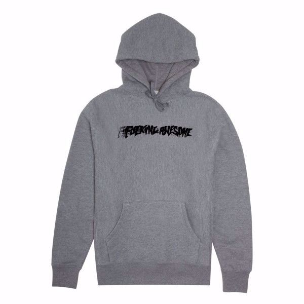 Stamp Hoodie - Fucking Awesome - Grey