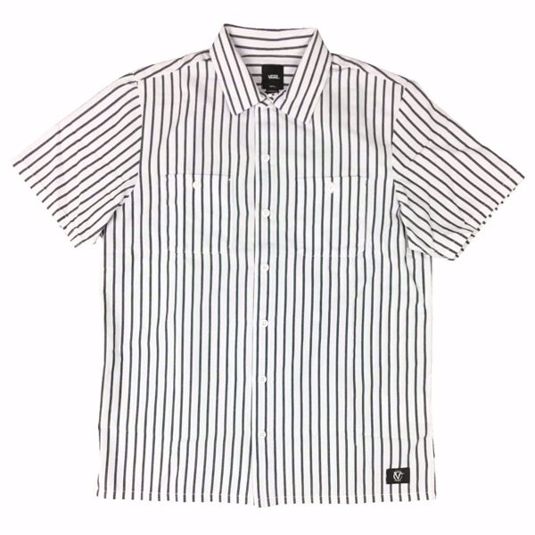 Rowan Workwear Shirt - Vans - White/Dress Blue