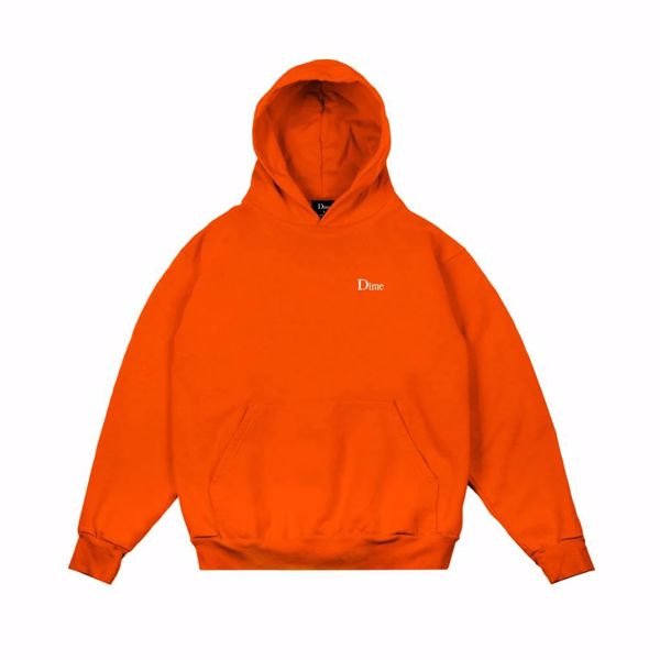 Classic Embroidered Hoodie - Dime - Orange