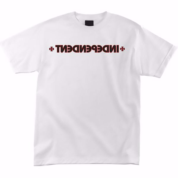 Cross/Bar Tee - Independent - White