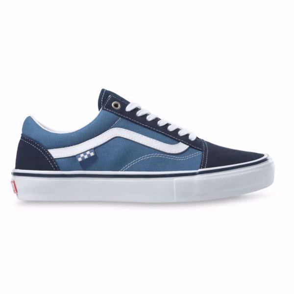 Skate Old Skool - Vans - Navy/White