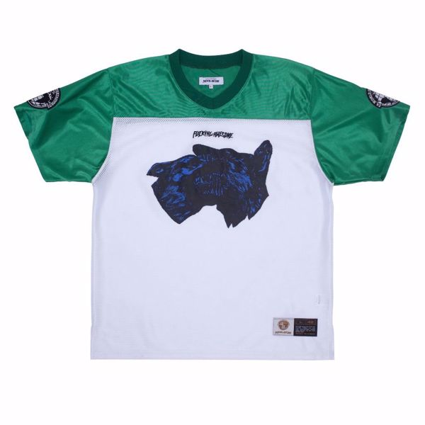 Dogs Football Jersey - Fucking Awesome - Green/Wht