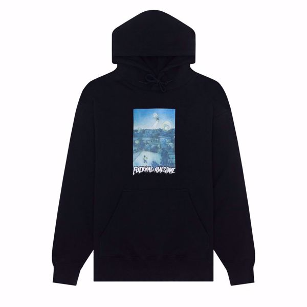 Helicopter Hoodie - Fucking Awesome - Black