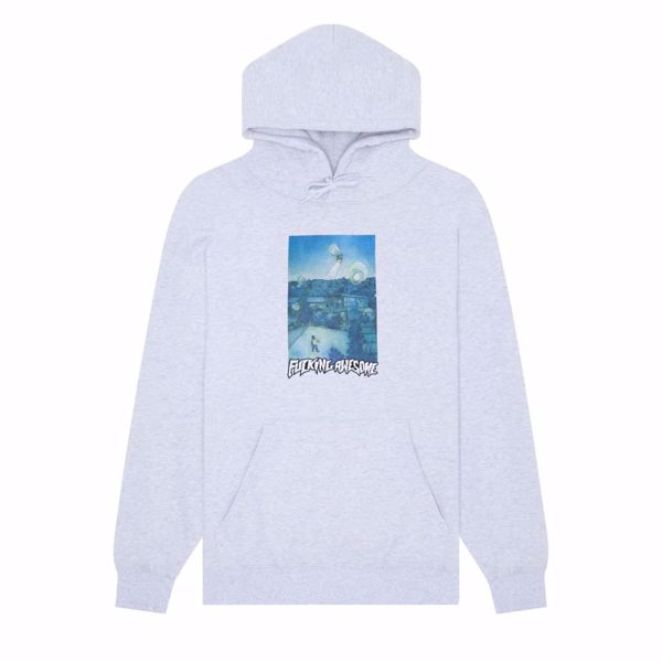 Helicopter Hoodie - Fucking Awesome - Heather Grey