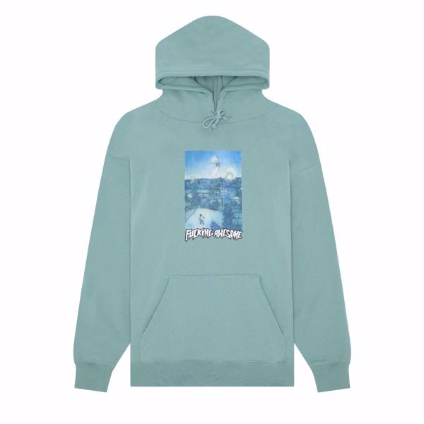 Helicopter Hoodie - Fucking Awesome - Teal